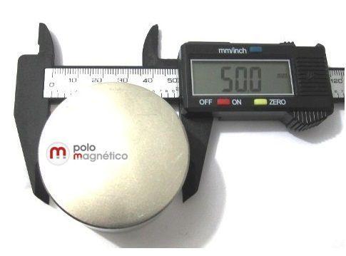 Imã de Neodímio Disco N42 50x30 mm  - Polo Magnético