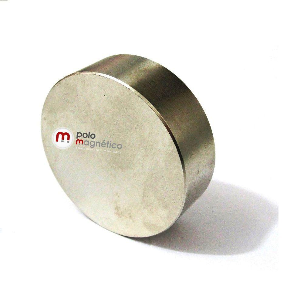 Imã de Neodímio Disco N42 60x20 mm
