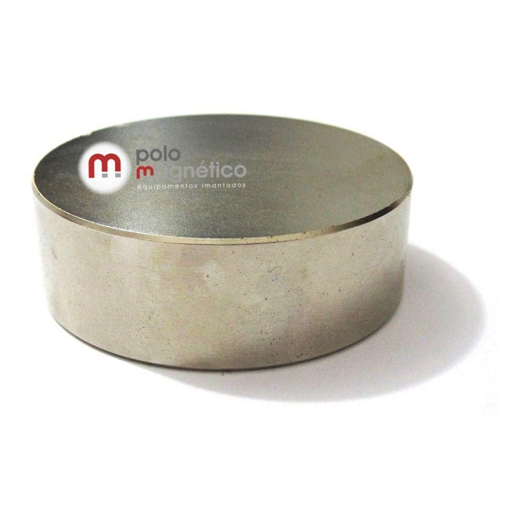 Imã de Neodímio Disco N42 60x20 mm  - Polo Magnético