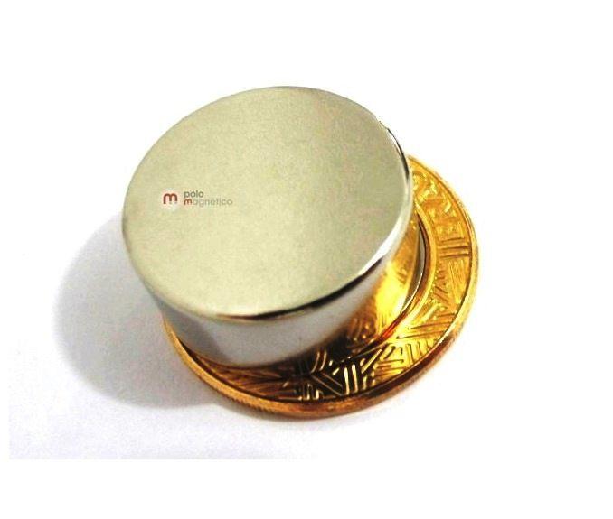 Imã de Neodímio Disco N50 22x10 mm  - Polo Magnético
