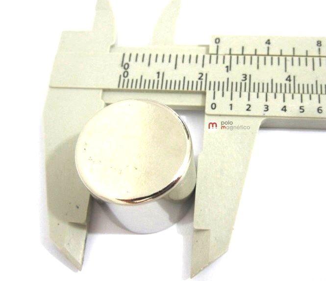 Imã de Neodímio Disco N50 22x20 mm  - Polo Magnético