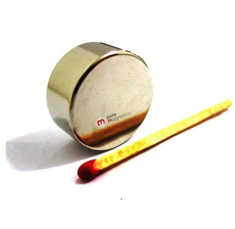 Imã de Neodímio Disco N52 22x10 mm  - Polo Magnético