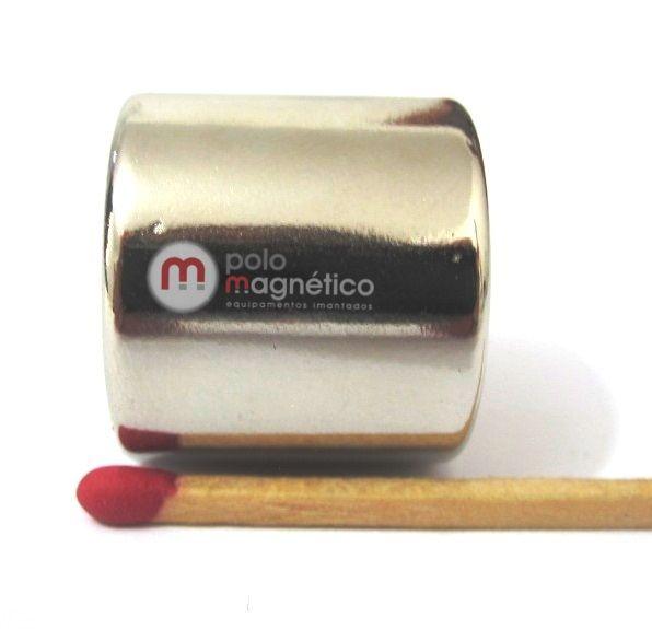 Imã de Neodímio Disco N52 22x20 mm  - Polo Magnético