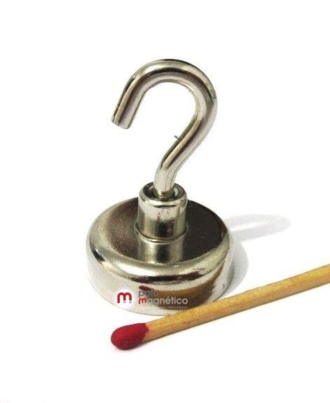Imã de Neodímio Gancho 32 mm  - Polo Magnético