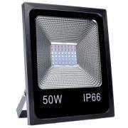 Refletor LED RGB 50W  SMD - C/ Controle Remoto