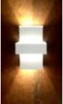 Arandela Externa 100 - Branca - Super Preço!  - 9led