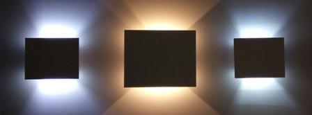 Arandela Quadrada Facho Duplo BL 8054-BF C/ Lamp Led G9 5w BQ  - 9led