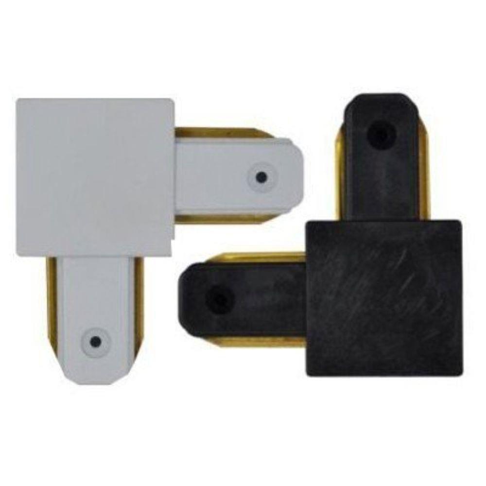 Conector para Trilho Branco / Preto - L