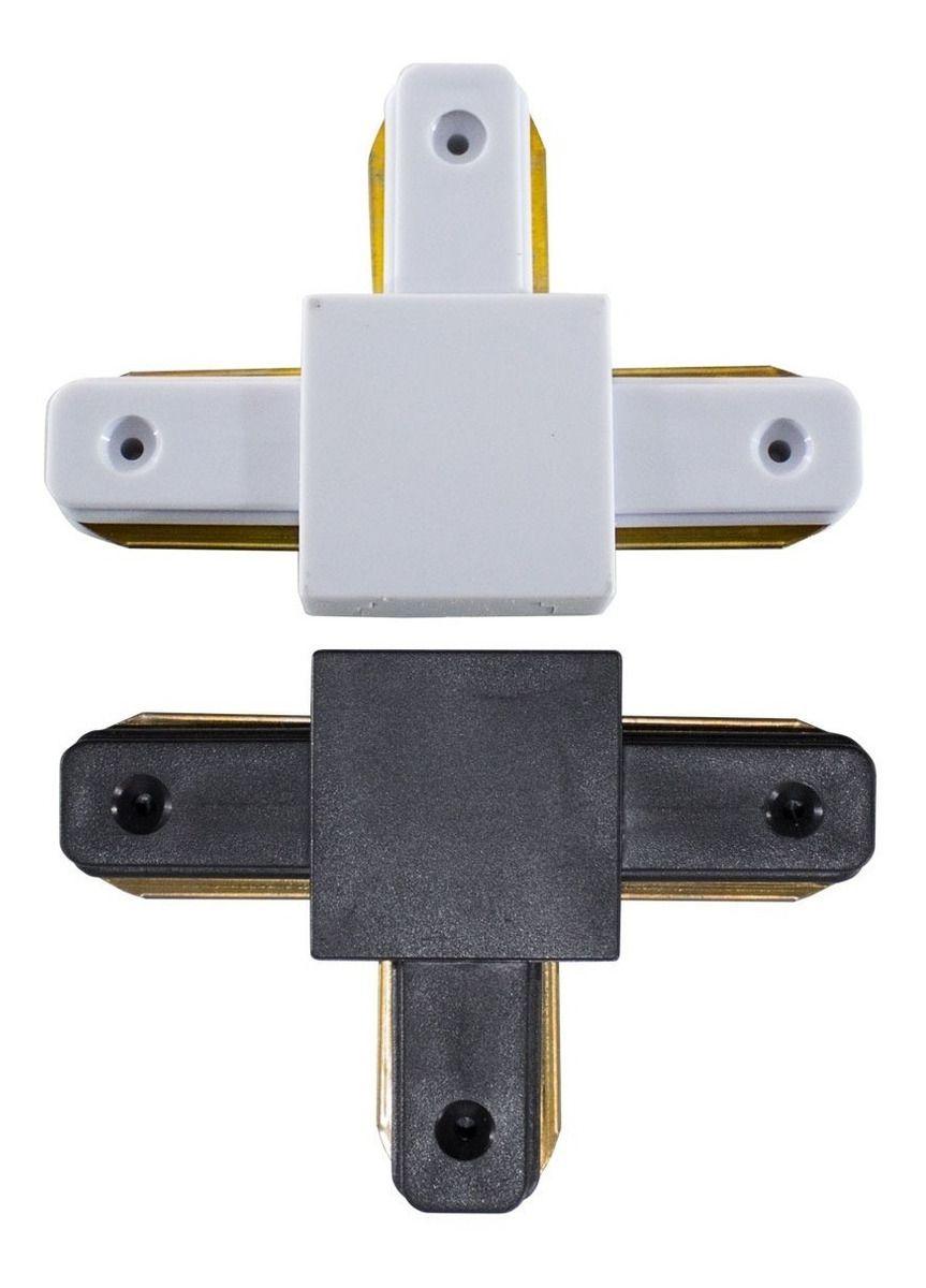 Conector Para Trilho Branco / Preto - T