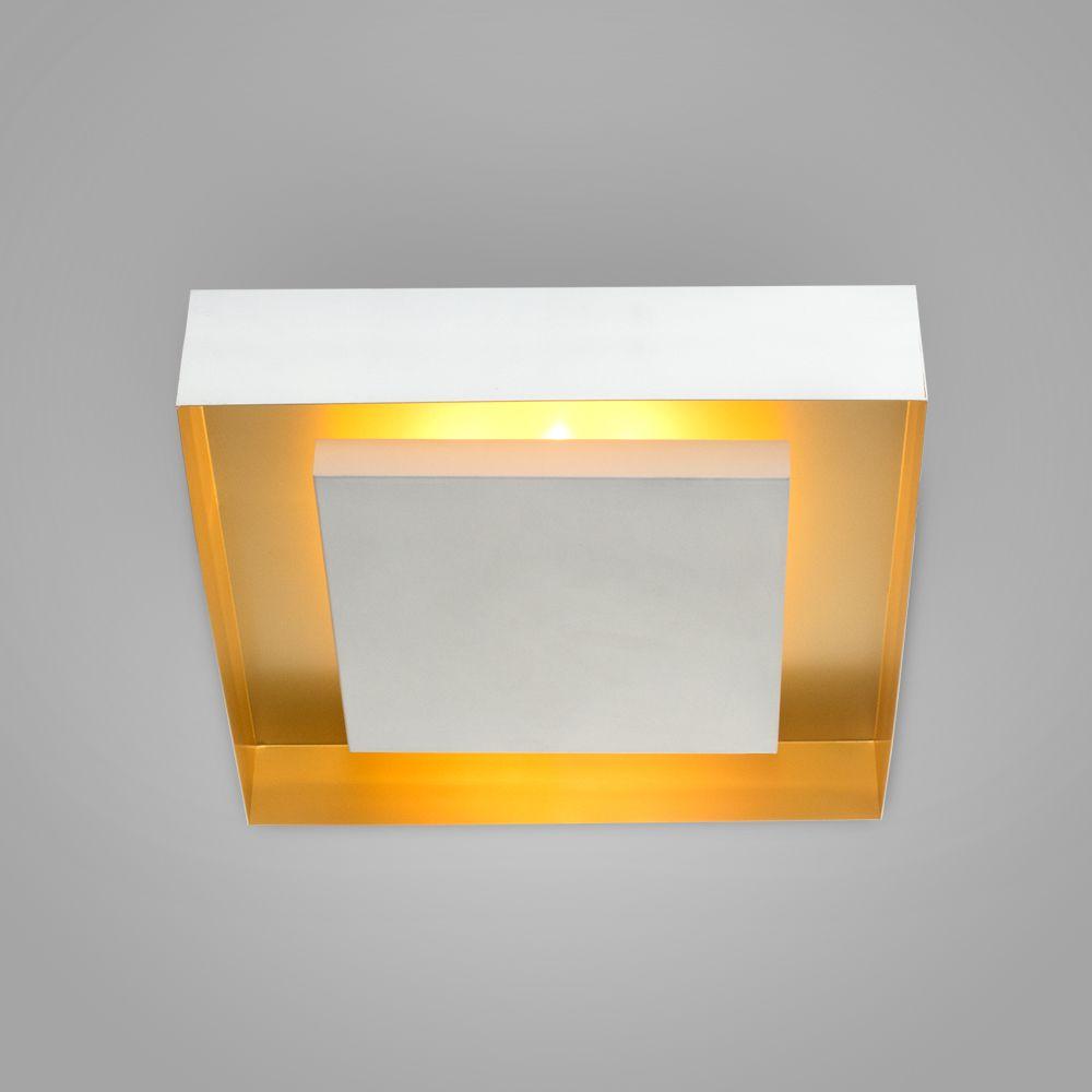 Luminária Plafon Luz Indireta Sobrepor Quadrada 46x46 - 3045/46