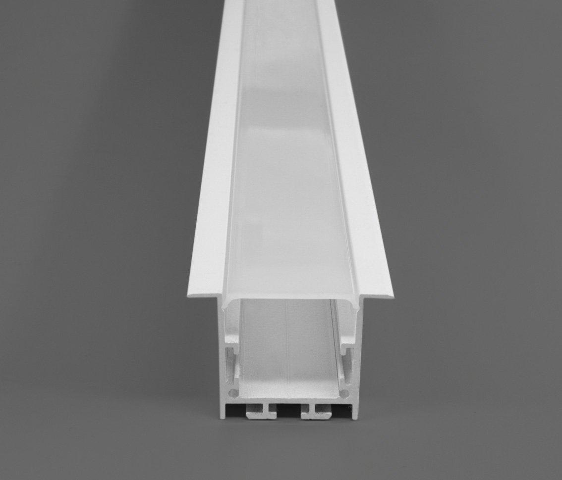 Perfil Embutir 50mm Para Fita LED - BRANCO