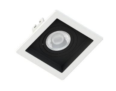 Spot Embutir GU10 Recuado Branco c/ fundo Preto - Sistema Click