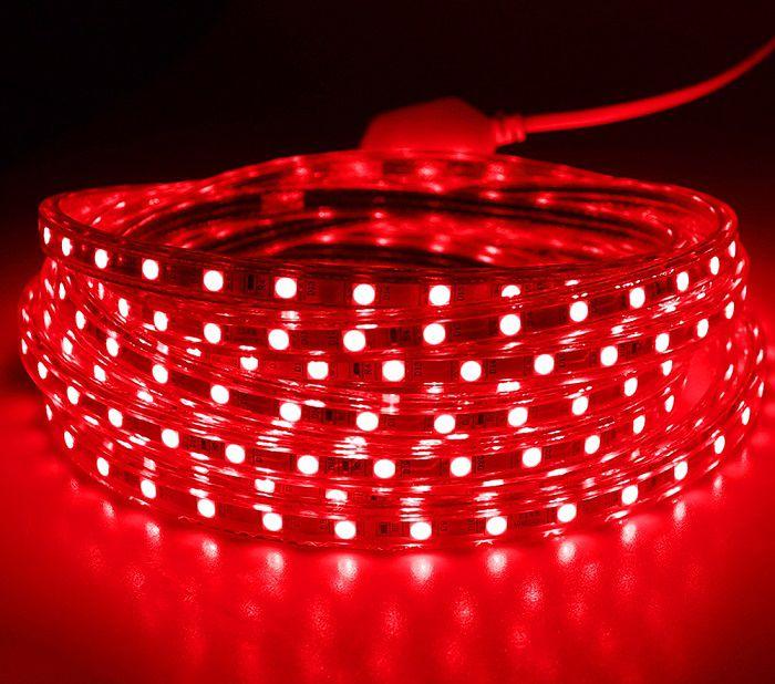 Fita LED 127v - 5050 - Vermelha - 5 Metros - NÃO NECESSITA DE FONTE