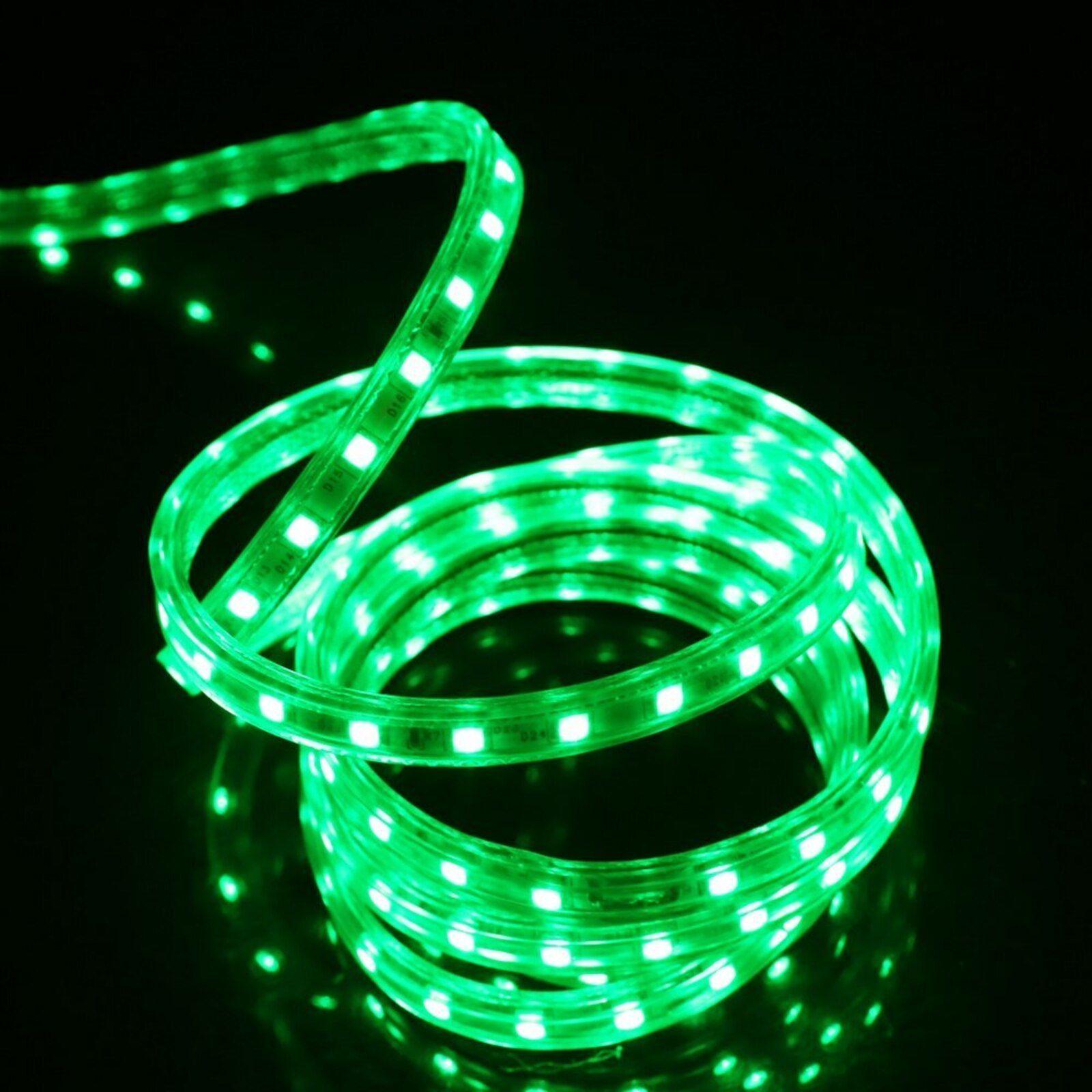 Fita LED 220v - 5050 - Verde -  5 Metros - NÃO NECESSITA DE FONTE