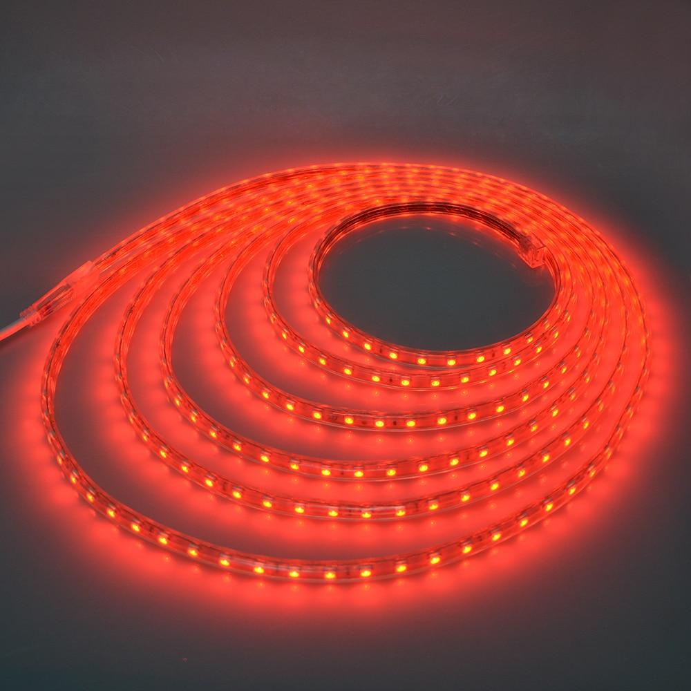 Fita LED 220v - 5050 - Vermelho - 10 Metros - NÃO NECESSITA DE FONTE
