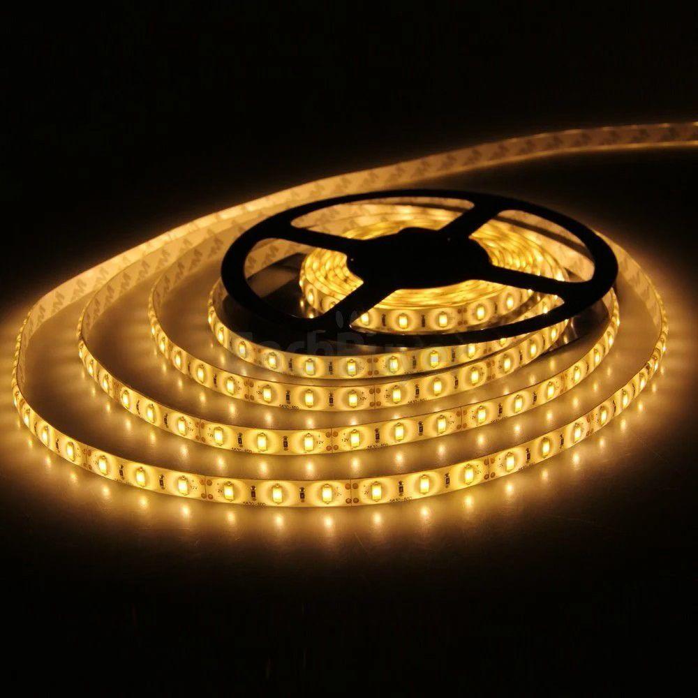 Fita LED 3528 24W - Bobina c/ 5 metros IP65 - A Prova D'agua