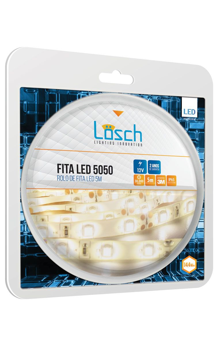 Fita Led 5050 Pró IP65 Rolo C/ 5 MT 12V  - 9led