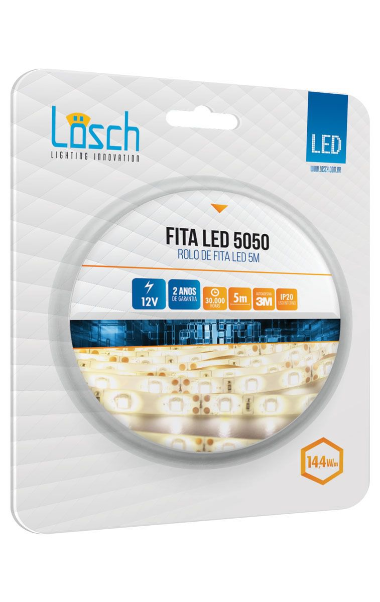 Fita Led 5050 Pró IP20 Rolo C/ 5 MT 12v   - 9led