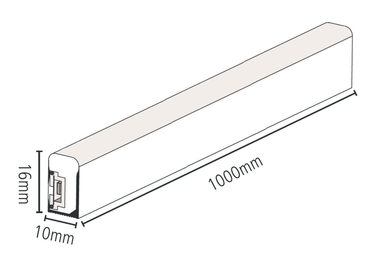 Fita Led Neon Flex 3528 127V/220V - Rolo com 50 MT   - 9led