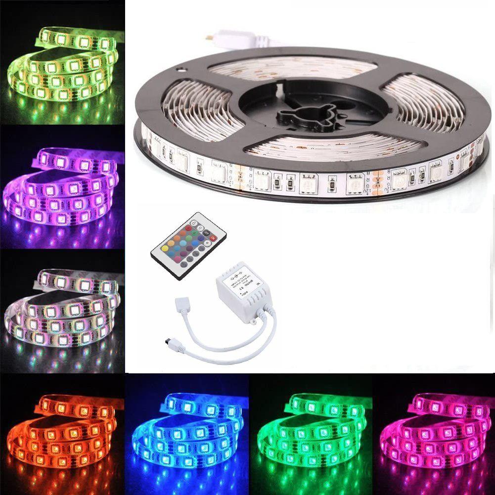 Fita LED RGB 5050 72w - 12V IP65 C/ CONTROLE REMOTO