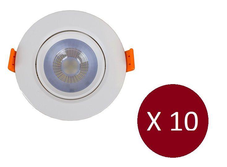 Kit Luminária Spot Led Redondo 3W - 10 Peças