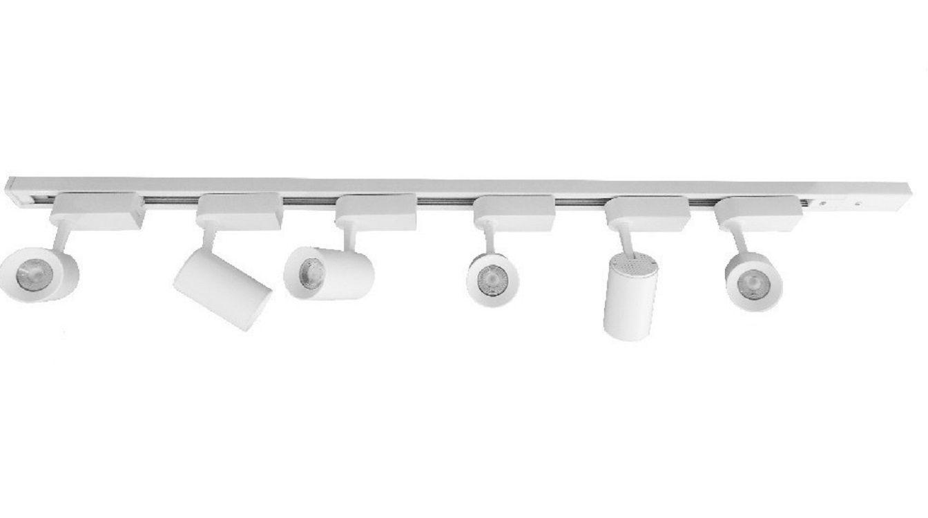 KIT Trilho Branco - 2 Metros + 6 Spots