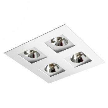 Luminária Embutir P/ Lâmpada AR70 Direcional Recuado BL1022/4 - Bellaluce