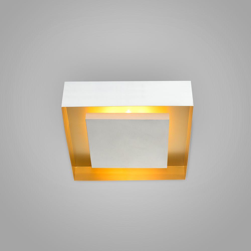 Luminária Plafon Luz Indireta Sobrepor Quadrada 34x34 - 3045/34