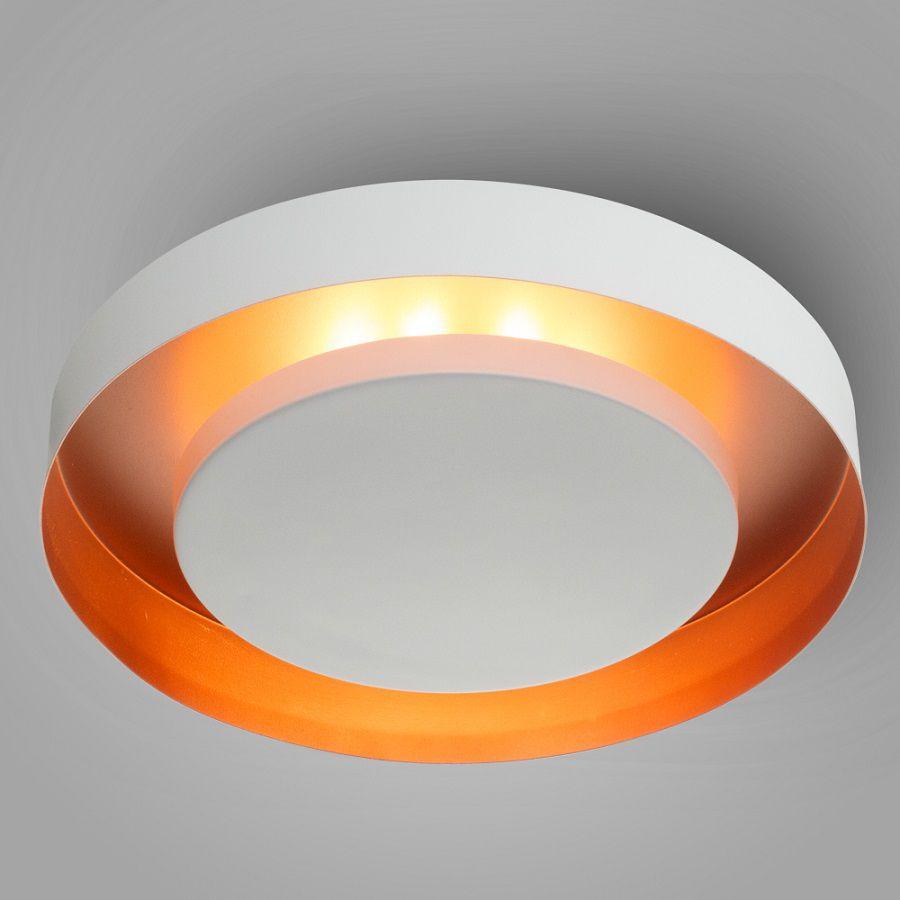 Luminária Plafon Luz Indireta Sobrepor Redonda Ø50 - 3046/50
