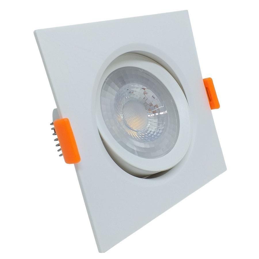 Luminária Spot Led Embutir Quadrado 7w