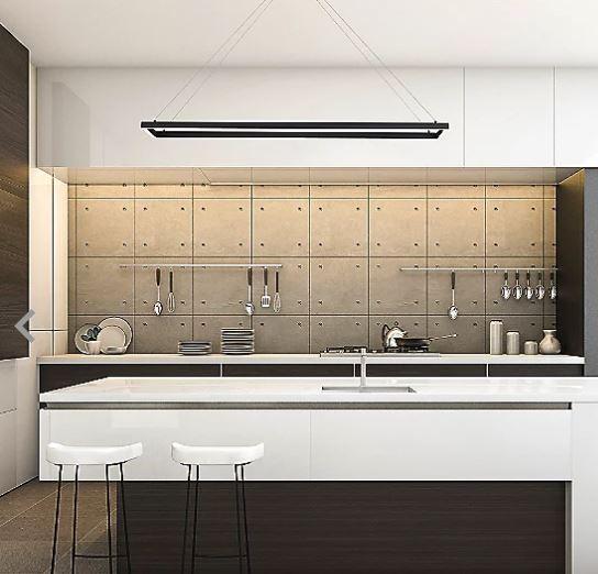 Pendente LED Concept Rectangle 60cm x 30cm - 36w - Bivolt