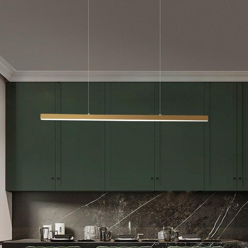 Pendente LED Linear Dourado