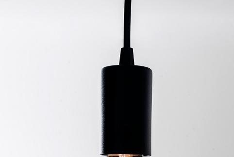 Pendente Branco para  P/ Lampada de Filamento Soq E27 - 126 Lampada Gratis!   - 9led