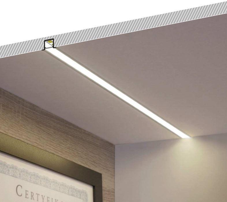 Perfil LED Embutir 24mm - 10w por Metro - *Pronto para instalar