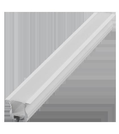 Perfil Embutir 24mm Para Fita LED - Barra com 2 metros