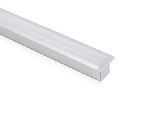 Perfil Embutir 36mm para Fita LED - Barra com 2 metros