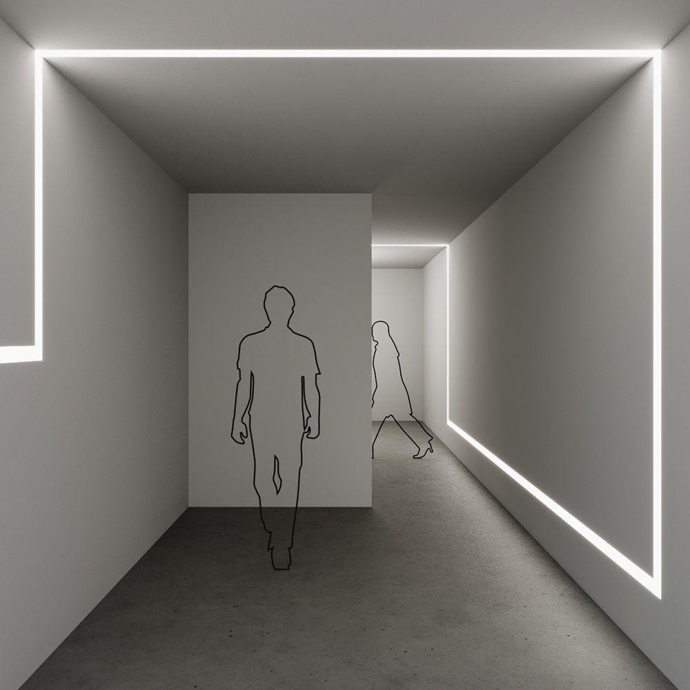 Perfil LED Embutir 50mm - 30w por Metro - *Pronto para instalar
