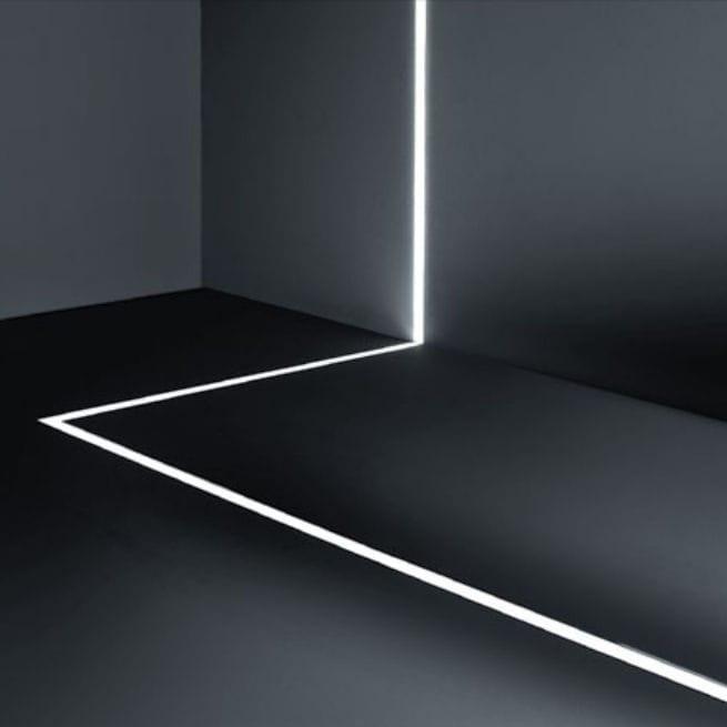 Perfil LED PISO IP20 - 10W por Metro - *Pronto para instalar