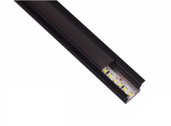Perfil LED Ultra Slim ALL BLACK Embutir 23,5mm - 20w por Metro - *Pronto para instalar