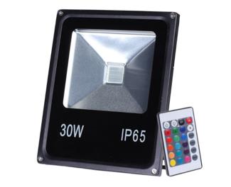 Refletor LED RGB 30W - C/ Controle Remoto  - 9led