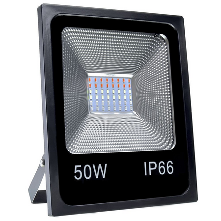 Refletor LED RGB 50W - C/ Controle Remoto