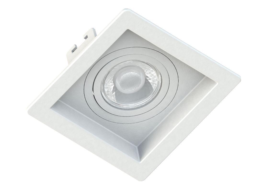 Spot Embutir GU10 Recuado Branco - Sistema Click
