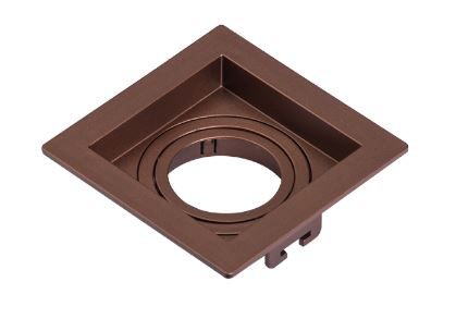 Spot Embutir GU10 Recuado Cobre Metálico - Sistema Click