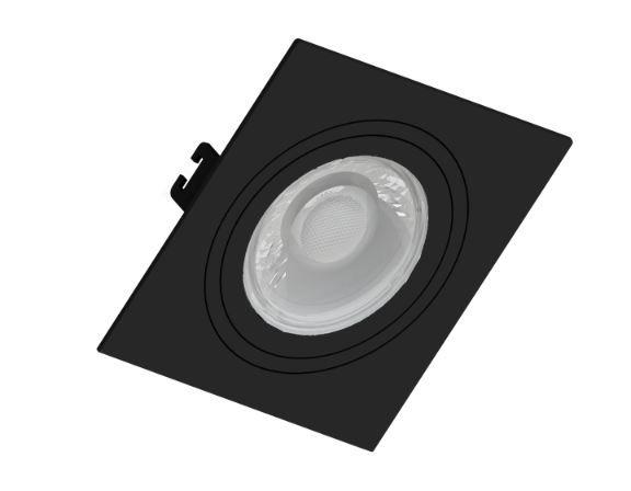 Spot Embutir GU10 Preto - Sistema Click