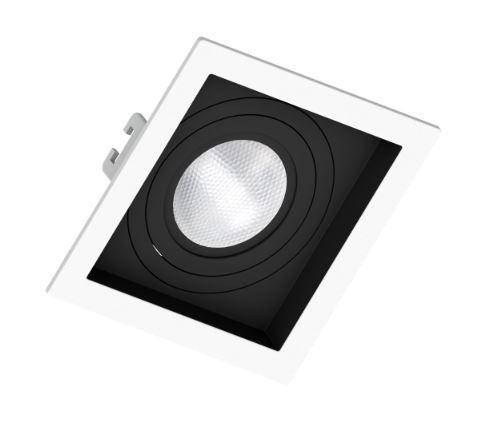 Spot Embutir PAR 20 Branco c/ Fundo Preto Recuado - Sistema Click