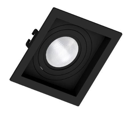 Spot Embutir PAR 20 Preto Recuado - Sistema Click