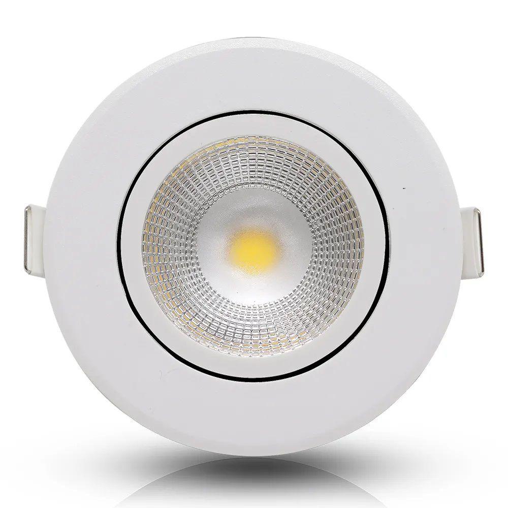 Luminária Spot LED Redondo Embutir Direcionável - 5W