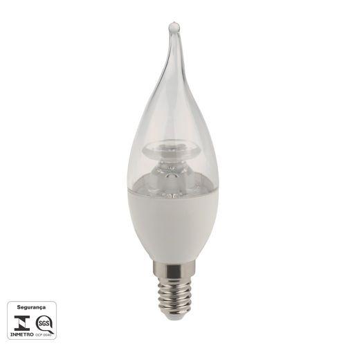 Lâmpada Vela Chama Cristal 3w - Delis