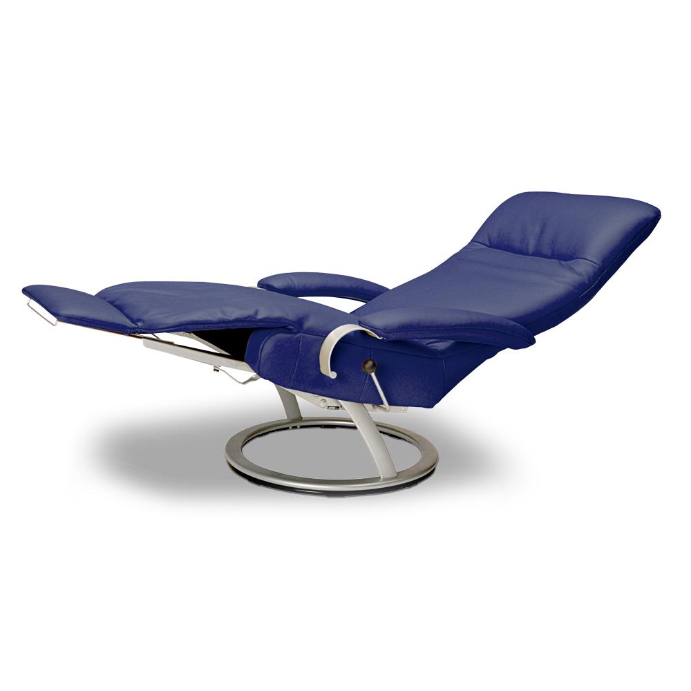 Poltrona reclinável Kiri da LAFER em couro  - Interdomus Lafer