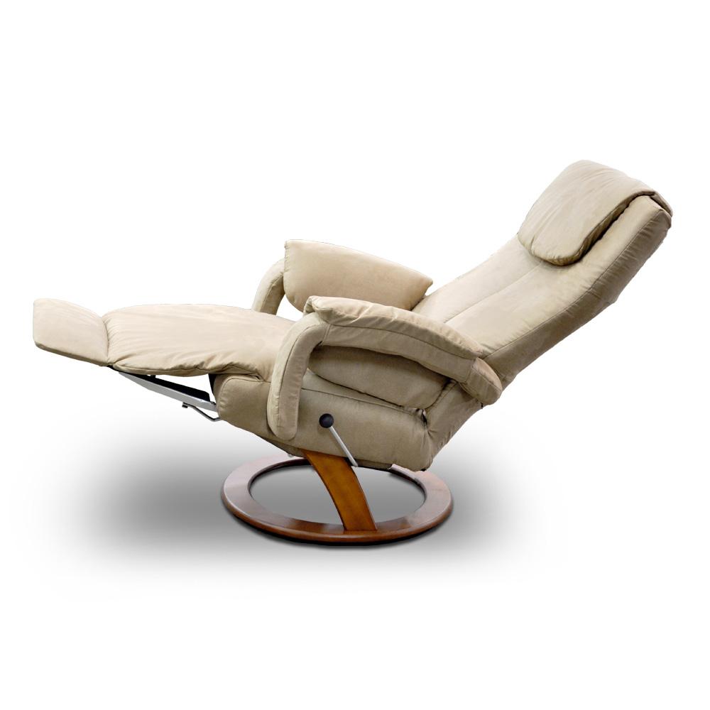 Poltrona reclinável Aline da LAFER em camurça (Tec 1)  - Interdomus Lafer